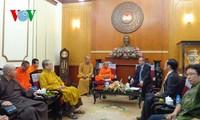 Chủ tịch UBTW MTTQ VN Nguyễn Thiện Nhân tiếp Chủ tịch Giáo hội Phật giáo Lào