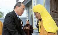 Chủ tịch Ủy ban Trung ương MTTQ Việt Nam chúc Tết lãnh đạo Giáo hội Phật giáo Việt Nam
