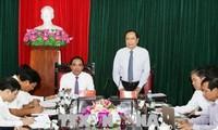 Chủ tịch Ủy ban Trung ương Mặt trận Tổ quốc VN Trần Thanh Mẫn thăm, làm việc tại tỉnh Tuyên Quang