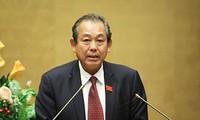 Phó Thủ tướng Thường trực Chính phủ Trương Hòa Bình chào xã giao Chủ tịch Hạ viện Italy
