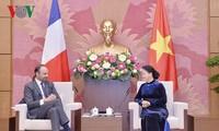 Chủ tịch Quốc hội Nguyễn Thị Kim Ngân hội kiến Thủ tướng Cộng hòa Pháp