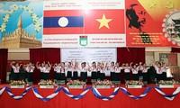 Lễ trao quà tặng của Tổng Bí thư, Chủ tịch nước Nguyễn Phú Trọng cho Trường song ngữ Lào-Việt Nam
