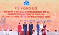 Chủ tịch Quốc hội dự lễ công bố Nghị quyết thành lập thành phố Chí Linh, tỉnh Hải Dương