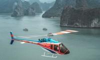 Truyền thông quốc tế giới thiệu trải nghiệm Vịnh Hạ Long bằng trực thăng