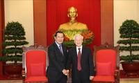 Tổng Bí thư, Chủ tịch nước Nguyễn Phú Trọng tiếp Chủ tịch Đảng Nhân dân Campuchia, Thủ tướng Chính phủ Hun Sen