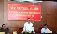 Phó Thủ tướng thường trực Trương Hòa Bình làm việc tại Đăk Nông