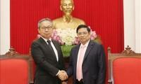 Trưởng Ban Tổ chức Trung ương Phạm Minh Chính tiếp Đại sứ Nhật Bản Yamada Takio