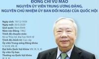 Tổ chức lễ tang nguyên Chủ nhiệm Văn phòng Quốc hội Vũ Mão theo nghi thức Lễ tang Cấp cao