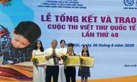 Trao giải cuộc thi Viết thư quốc tế UPU năm 2020