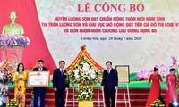 Lương Sơn, tỉnh Hòa Bình, đạt chuẩn nông thôn mới năm 2019 và đón nhận Huân chương Lao động hạng Ba