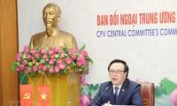 Trưởng ban Đối ngoại Trung ương hội đàm trực tuyến với Phó Chủ tịch,Trưởng ban Quốc tế Trung ương Đảng Cộng sản Nhật Bản