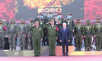Đội tuyển tăng Việt Nam nhận cúp vô địch và huy chương vàng Hội thao quân sự quốc tế Army Games 2020