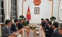Phó Thủ tướng Trương Hòa Bình tiếp Tư lệnh Cảnh sát Quốc gia Hàn Quốc