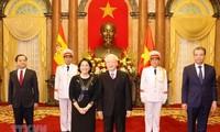 Tổng Bí thư, Chủ tịch nước Nguyễn Phú Trọng nhận Quốc thư của  các Đại sứ nước ngoài