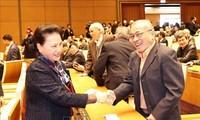 Chủ tịch Quốc hội Nguyễn Thị Kim Ngân chúc Tết cán bộ Văn phòng Quốc hội đã nghỉ hưu