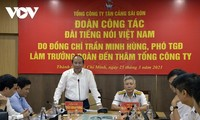 Đoàn công tác Đài Tiếng nói Việt Nam làm việc với Tổng Công ty Tân Cảng Sài Gòn