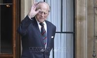 英国民众哀悼菲利普亲王逝世