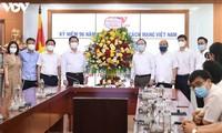 Trưởng ban Tuyên giáo Trung ương thăm chúc mừng Đài Tiếng nói Việt Nam