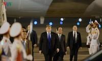 US President Donald Trump arrives in Vietnam