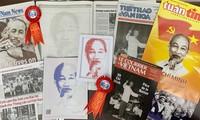 10 tờ báo in Việt Nam kỷ niệm sinh nhật Chủ tịch Hồ Chí Minh bằng tô hình chân dung Lãnh tụ