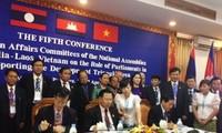 Parlamentos de Vietnam, Laos y Cambodia apoyan el Triángulo de Desarrollo