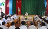 Dirigente partidista orienta realización de tareas políticas y sociales en Bac Giang