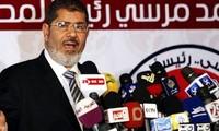 Hermandad Musulmana manifestándose a favor de Mohamed Mursi