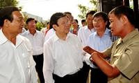 Presidente Truong Tan Sang visita diferentes localidades de Ciudad Ho Chi Minh
