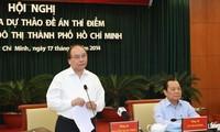 Aprueban borrador del plan piloto de Administración urbana de Ciudad Ho Chi Minh