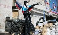 Manifestantes en Ucrania piden intervención de Rusia