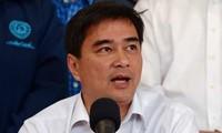 Jefe opositor tailandés propone suspender elecciones