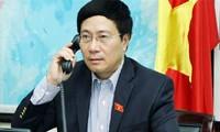 Conversación telefónica el canciller vietnamita con John Kerry sobre el Mar Oriental