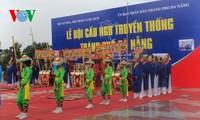 """Reviven en Hanoi fiesta tradicional """"Cau Ngu"""" de Da Nang"""