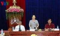 Vicemandataria entregó presentes a familias beneficiadas de políticas preferenciales