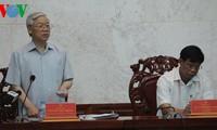 Líder partidista trabaja en Hau Giang