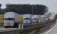Rusia confirma salida de Ucrania de su convoy humanitario