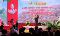 Recuerdan visita de Ho Chi Minh a tierra de fundadores de la nación