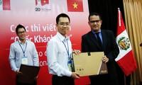 Premian a ganadores del primer concurso de ensayo sobre Perú en Vietnam