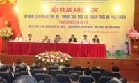 Seminario sobre los logros, oportunidades, retos para el desarrollo de Hanoi