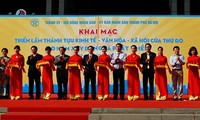Se inaugura exposición sobre logros socioeconómicos y culturales de Hanoi