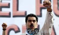 Marcha en protesta contra Estados Unidos en Venezuela