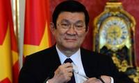 Presentes dirigentes vietnamitas en conmemoración de la victoria frente al fascismo