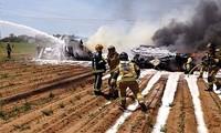 Se accidenta un avión militar de España