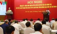 Aprenden del ejemplo moral de Ho Chi Minh en organismos estatales