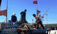 Determinados pescadores vietnamitas a aferrarse al mar nacional