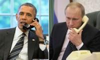 Líderes ruso y estadounidense conversan sobre temas de actualidad