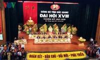Dirigentes vietnamitas asisten a Congresos partidistas en Bac Giang y Kon Tum
