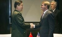 Titulares de defensa de China y Estados Unidos defienden sus posturas sobre el Mar Oriental