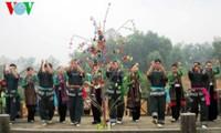 Ambiente festivo en zonas montañosas de Vietnam