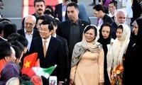 Inicia el presidente vietnamita visita oficial a Irán